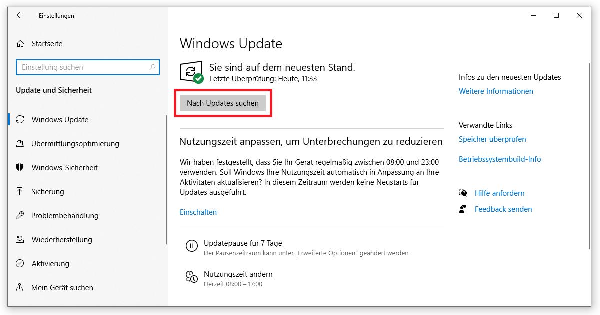 Hier siehst du sofort, ob dein Windows Update fehlerhaft war