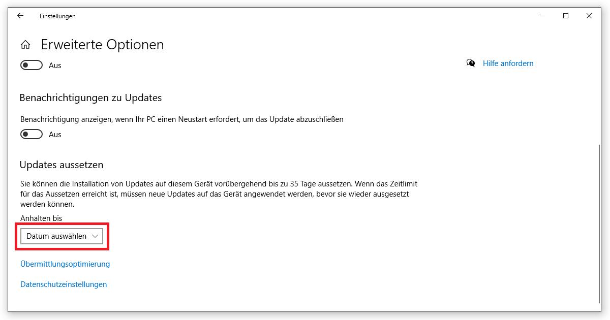 So kannst du die Aktualisierung deines Betriebssystems aufschieben