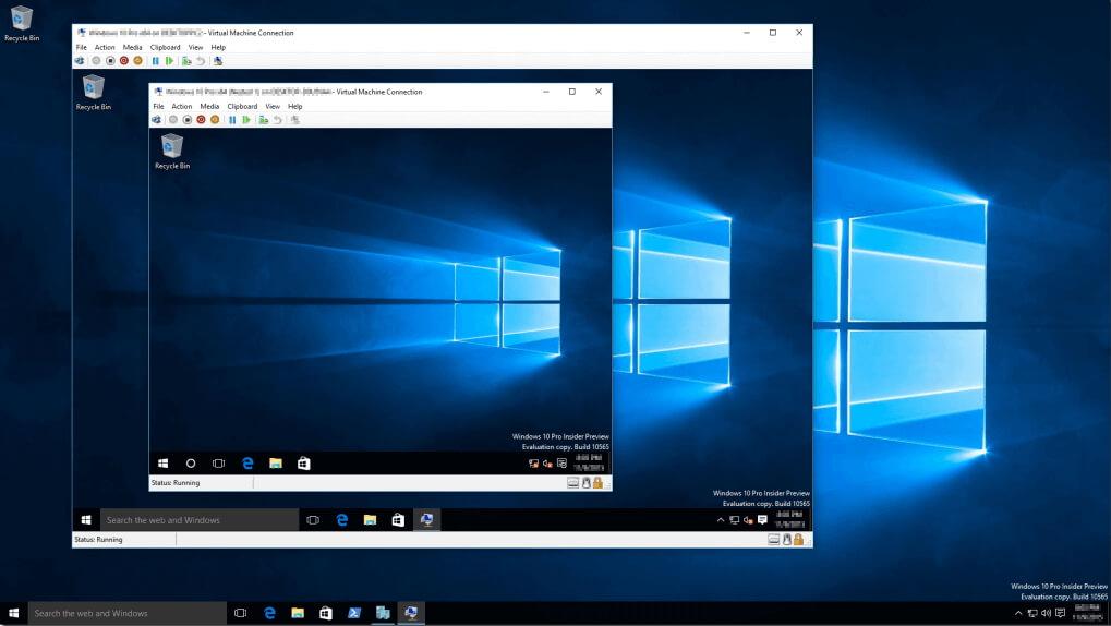 Virtuelle Maschine bei Windows 10 im Einsatz