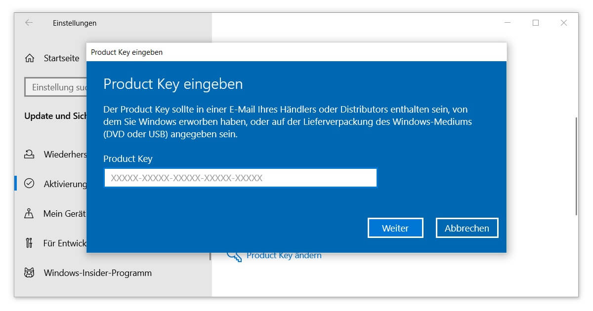 Upgrade zu Windows 10 Pro durchführen